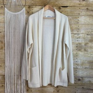 Vintage Ellen Tracy Wool Angora Blend Cardigan